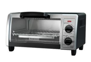 Black + Decker 4-Slice Black Stainless Steel Toaster Oven