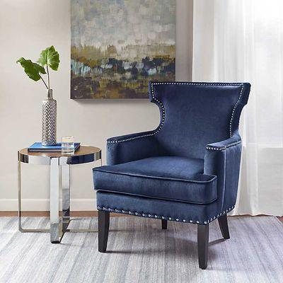 Blue Velvet Melanie Accent Chair