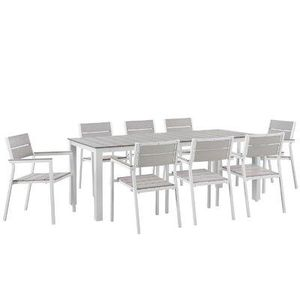 Churchton Rectangular 8 - Person Aluminum Dining Set