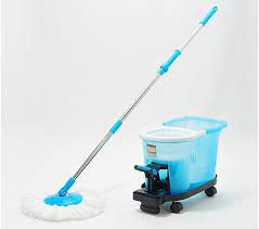 Clean Spin 360 Microfiber Spin Mop with Foot Pedal Bucket & Wheels