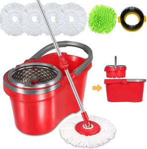 HAPINNEX Spin Mop and Bucket with Wringer Set