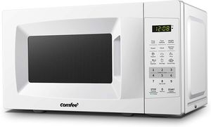 Comfee' EM720CPL-PMB Countertop Microwave with ECO Mode, 0.7 Cu. Ft.