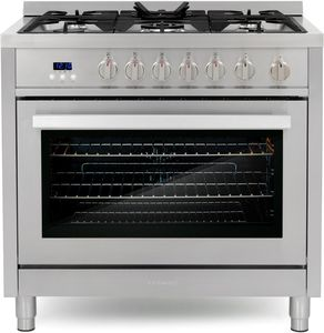 Cosmo 36-in 5 Burners 3.8-cu ft Convection Oven Freestanding Gas Range