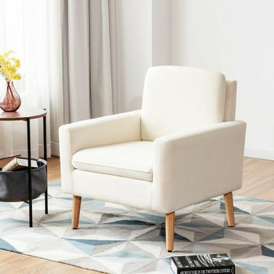 Costway Modern Accent Fabric Chair