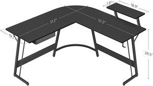 CubiCubi Gaming L-Shaped Desk Computer Corner Desk