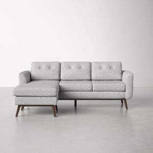 Giana Polyester Blend Reversible Stationary Sofa & Chaise Sectional