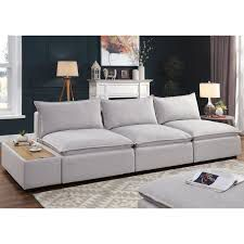 Fren Contemporary Wood Padded Sofa by Furniture of America