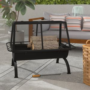 Hicks Steel Wood Burning Fire Pit by Arlmont & Co.