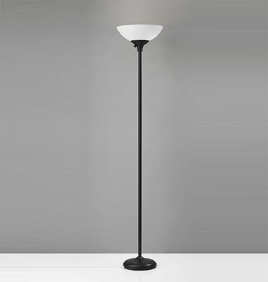 Homeroots Metal Torchiere Lamp
