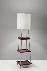 HomeRoots 372586 Wood/Metal Shelf Floor Lamp