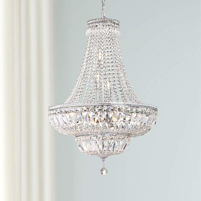 Ibiza Silver 11-Light Crystal Chandelier by James Moder