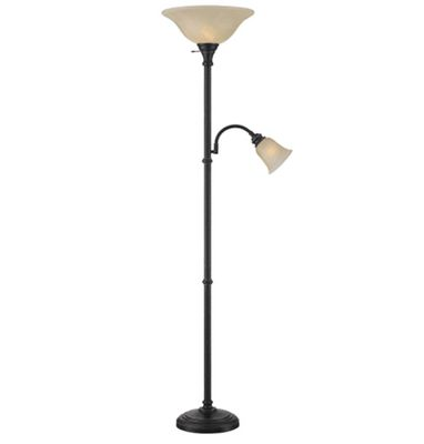 Lite Source Henley 1 Light Torchiere Lamp with Reading Light