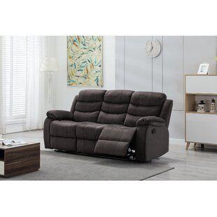 Oldroyd Microfiber Reclining Pillow Top Arm Sofa by Red Barrel Studio