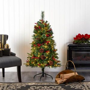 Pre-Lit Norway Mixed Pine Artificial Christmas Tree