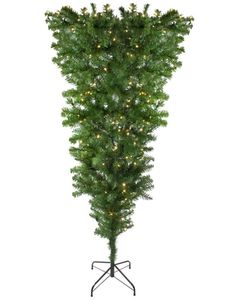 Pre-Lit Upside Down Spruce Artificial Christmas Tree