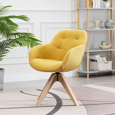 Swivel Armchair in Fabric