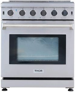 Thor Kitchen LRG3001U 30 inch Freestanding Pro-Style Gas Range