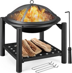 Yaheetech 22-Inch Fire Pit with Cooking Grill